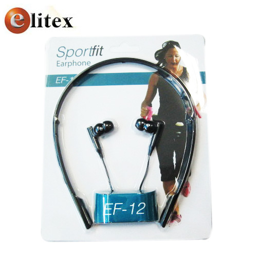 Audifono Earplug Sport #EF12 Banda Desmontable 1Blister*